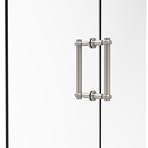 Allied Brass 404T-8BB-PNI Contemporary 8 Inch Back Shower Door Pull with Twisted Accent, Polished Nickel ()