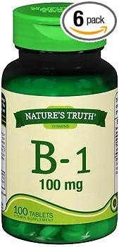Nature's Truth B-1 100 mg - 100 Tablets, Pack of 6