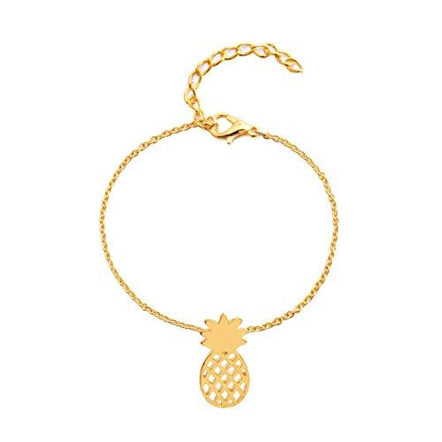 CHoppyWAVE Bracelets 1Pc Fashion Women Hollow Fruit Pineapple Charm Chain Bracelet Jewelry Xmas Gift - Golden