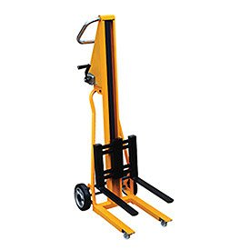 Vestil HWL-260 Portable Mini Stacker, 260 lb. Capacity, Yellow by Vestil