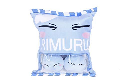 (MOE Anime That Time I Got Reincarnated as a Slime Cartoon Blue Stuffed Plush Doll Pillow Toy Short Pile+PP Cotton 40X35CM)