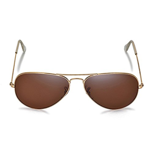 27f305357113c Walleva Replacement Lenses for Ray-Ban Aviator Large Metal RB3025 58mm  Sunglasses - Multiple Options Available(Brown - Polirazed)