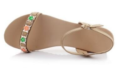 Laruise Women's Leather Wedge Sandal Brown FykjDV