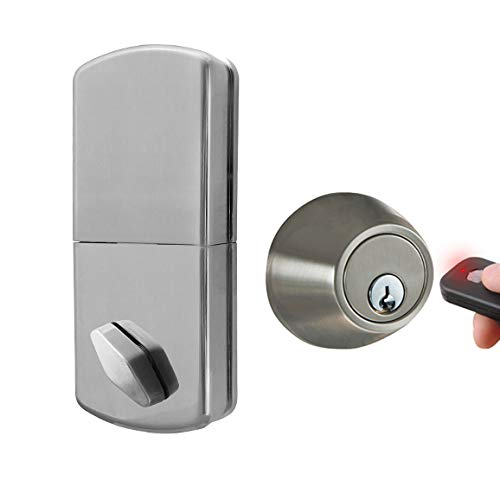 Amazon.com: MiLocks WF-02SN Digital Deadbolt Door Lock with Keyless Entry via Remote Control for Exterior Doors, Satin Nickel: MORNING INDUSTRY INC.