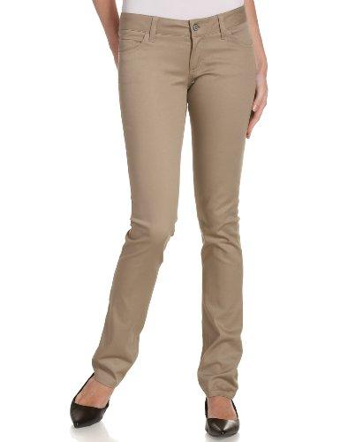 (Dickies Girl Junior's Classic 5 Pocket Skinny Pant, Khaki, 7)