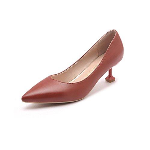 nbsp;cm scarpe professionale 5 fine elegante a rosso lavoro con femmina Single tacco 39 nero Xue con punta tacchi da Qiqi bocca scarpe alti XqfwnvtxY
