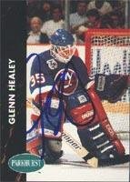 Glenn Healy New York Islanders 1991 Parkhurst Autographed Card. This item comes with a certificate of authenticity from Autograph-Sports. Autographed -