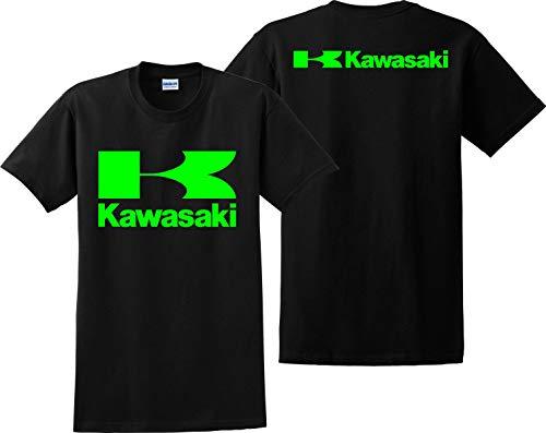 Kawasaki T Shirt Racing Bikes JDM ATV Ninja Unisex Tee Shirts Black ()