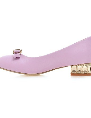 Semicuero Negro Morado Cn39 Mocasines Zapatos Eu39 Tacón Beige Purple Punta De Zq us8 Mujer Redonda Bajo Casual Uk6 fRzq1zwvx