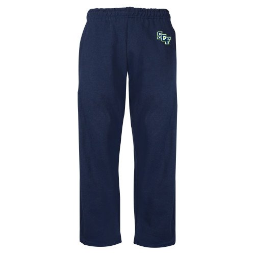 State College of Florida Navy Fleece Open Bottom Pant SCF