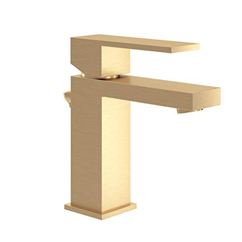 Symmons SLS-3612-BBZ-1.0 Duro Single Hole Single-Handle Bathroom Faucet with Drain Assembly in Brushed Bronze (1.0 GPM)