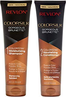 Revlon Colorsilk Colorstay Moisturizing Shampoo & Conditioner Set, Gorgeous Brunette, 8.45 Oz ()