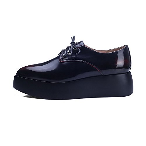 Pu sko Røde Kattunge Tå Pumper Solid up Hæler Lukket Pekte Blonder Kvinners Voguezone009 FP5w77