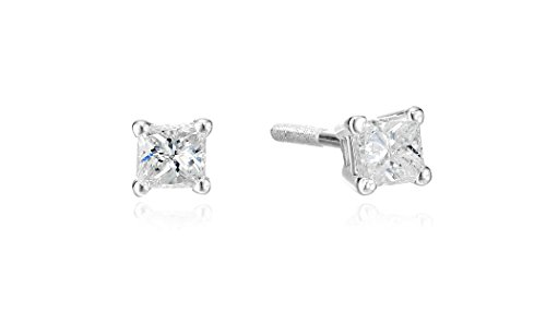 14k-Gold-Princess-Cut-Diamond-Screw-Back-and-Post-Stud-Earrings-H-I-Color-I2-Clarity