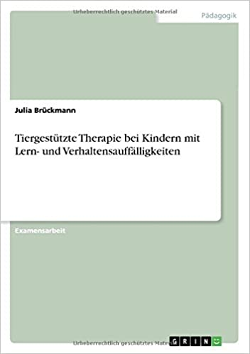Book Tiergestützte Therapie bei Kindern mit Lern- und Verhaltensauffälligkeiten
