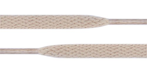 Flat Shoelaces 5/16 Wide Solid Colors Several Lengths For Sneakers and Shoes (Khaki-36)