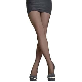 Angelina Sheer Nylon/Spandex Pantyhose (pack of 6 pairs), Regular Size, Black Color