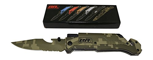 2x-2-Rogue-River-Tactical-Rescue-Knives-Military-Green-Camo-6-in-1-Multitool-Survival-Pocket-Knife-with-Magnesium-Fire-Starter-LED-Flashlight-Bottle-Opener-Seat-Belt-Cutter-and-Windows-Breaker