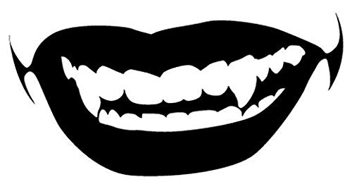 Sexy Vampire Lips Mouth - Sticker Graphic - Auto, Wall, Laptop, Cell, Truck Sticker for Windows, Cars, Trucks (Vampire Car Decal)