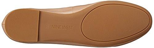 Nine West Womens Abiss Läder Balett Platt Ljus Naturligt / Ljus Naturlig