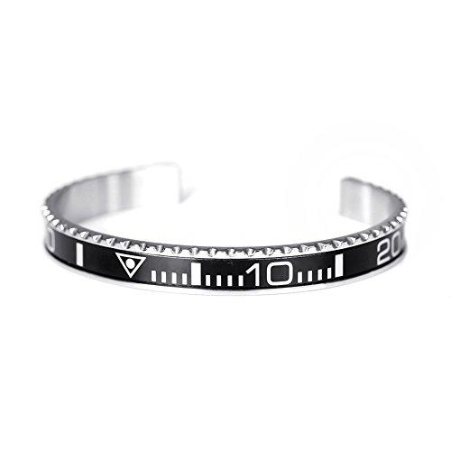 BeiChong Speedometer Stainless Steel Watch Style Bracelet Jewelry (Black)