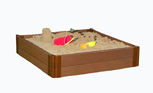 One Inch Series 4ft. x 4ft. x 11in. Composite Square Sandbox Kit by Frame It All (Image #6)