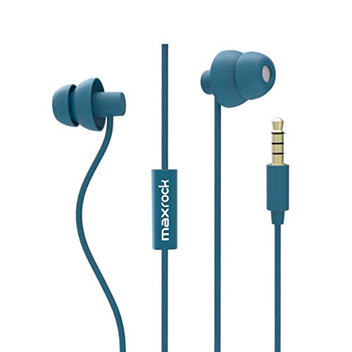 MAXROCK Sleep Earplugs - Noise Isolating Ear Plugs Sleep Earbuds Headphones with Unique Total Soft Silicone Perfect for Insomnia, Side Sleeper, Snoring, Air Travel, Meditation & Relaxation(wh) (Blue)