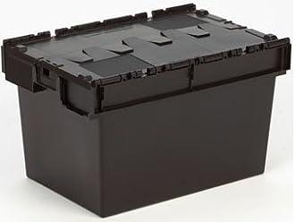 Solent Plastics 35/Liter Stapeln Schwarz Picking Kunststoff Offene Vorderseite Recycling Kunststoff Aufbewahrungsbox M/ülleimer 35 l