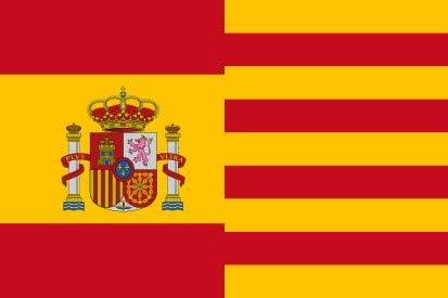 MR Bandera DE ESPAÑA Y CATALUÑA 90 X 150 CM: Amazon.es: Jardín