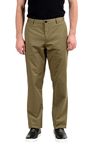 BURBERRY Men's Olive Green Casual Pants US 42 IT ()