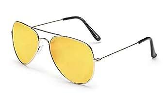 SensoLatino Aviator Gold Lens Gold Frame Sunglasses for Women's, Men's SLA-17