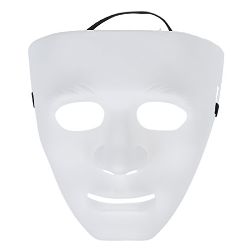 Honey Sugar - Blank Male Mask Halloween Costume Drama - White Blank Mask Drama Male Party Masks Blank Mask Male Silicon Clown Evil Ginger Organic Face Halloween Horror Terrible Drama Chef Jacket