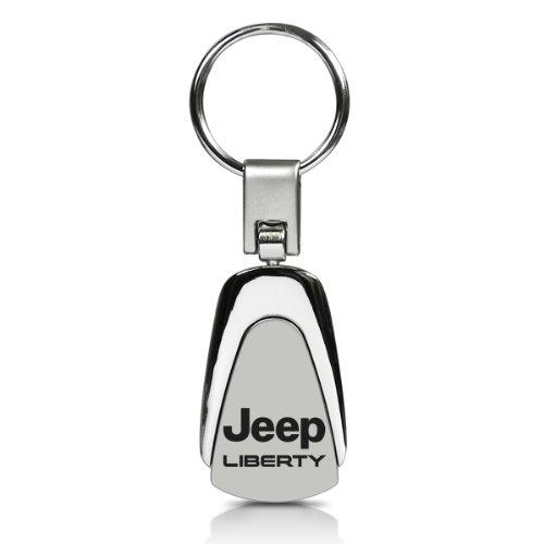 Au-Tomotive Gold, INC. Jeep Liberty Chrome Metal Tear Drop Auto Key Chain