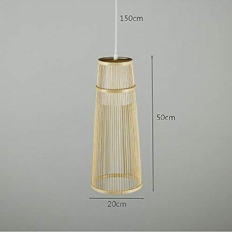 ZHYZN Colgantes de bambú, Luces, Perlas, salón del Hotel, Luces ...