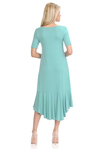 High Mint Dress Vivienne Detail with Pastel Women's Sleeve Ruffle by Mid Short Low x6nTSfwaq