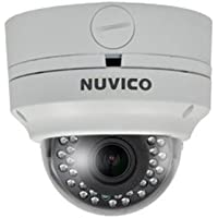 Nuvico 2.8~12mm Varifocal 1080p Outdoor IR Day/Night Vandal Dome HD-TVI/Analog Security Camera 12VDC/24VAC w/ Built-in Heater/Fan