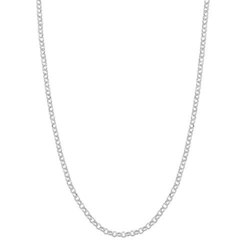 Kooljewelry Sterling Silver 1 mm Rolo Chain Necklace (18 inch)
