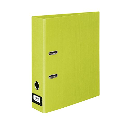 Rossler SOHO A4 80 mm Spine Lever Arch File with Metal Index Holder - Lime Green ()
