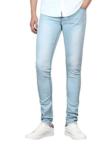 Pants Denim Stretch Pantaloni Mens Confortevole Bianca Abbigliamento Vintage Youth Slim Skinny Pencil Fit Jeans Series w1xxp0nqvH