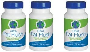 New Ultra Fat Flush All Natural Dietary Supplement Cleanses and Supports Thermogenic Weight Loss Colon Health Plant-Based Formula Increase Energy Levels Flush Fat 90 Day Supply