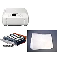 Edible Photo Printer Bundle - Canon MG5722 Wireless All-in-One, Edible Ink Set, and 12x Artisan Frosting Sheets