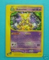 Alakazam Pokemon Card - Pokemon Card Expedition Rare Nonholo Alakazam 33/165