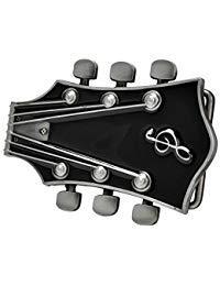 Buckle Rage Adult Unisex Guitar Music Headstock Musician Base Belt Buckle Black