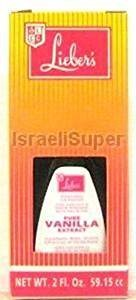 Lieber's Pure Vanilla Extract Kosher For Passover 2 Oz. Pack Of 3.