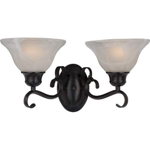 Maxim Lighting Pacific Kentucky Bronze 2-Light Vanity Light 8020MRKB