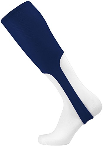 TCK Sports Solid Color 9 Baseball Softball Stirrup Socks (Navy, Large) (Stirrup Socks)