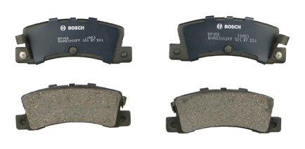 - Bosch BP352 QuietCast Premium Semi-Metallic Disc Brake Pad Set For Chevrolet: 1988 Nova, 2002 Prizm; 1989-1992 Geo Prizm; Toyota: 1987-1992 Corolla; Rear