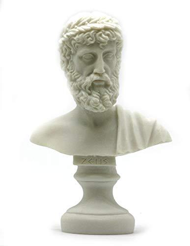 Zeus Father King of Gods Alabaster Bust Head Statue Sculpture Figure Decor 6.3'' (Sculpture Bust Head)