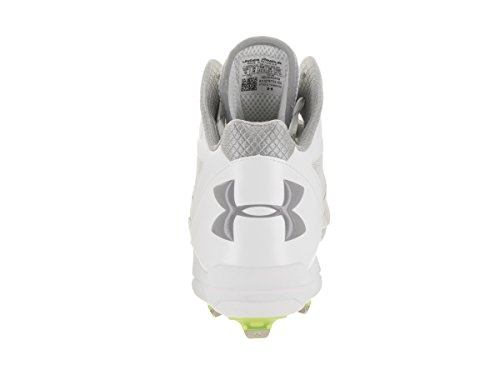 Under Armour Men's UA Deception Mid DT Baseball Cleats White/Black discount for cheap cheap genuine for sale cheap real visit online f8wqpXnRrm