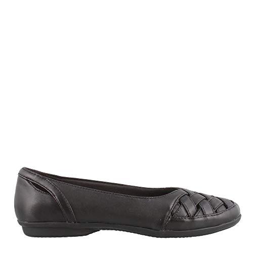 (CLARKS Women's Gracelin Maze Loafer Flat, Black Leather, 120 M US)